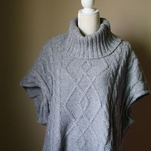 Sonoma Cable Knit Poncho